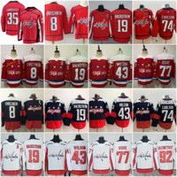 35 Henrik Lundqvist Washington Capitals Jersey 8 Alex Ovechkin 19 Nicklas Backstrom 43 Tom Wilson 77 TJ Oshie 92 Evgeny Kuznetsov Carlson