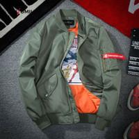 Lusumily 2020 Spring Bomber Jacket Женщины Outwear США Military Flight Pilot Куртка Женский пальто колледж Верхняя одежда Военный CoatsX1016