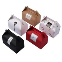 Creative Paper Backen Verpackung Box Portable Handle Pastry Box Geschenk Mousse Box Exquisite Kuchen-Plätzchen-Container VT1937