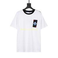 AB Boyutu XS-L 2021 Tasarımcı Lüks Erkek Tshirt Tee T Gömlek Moda Nakış Kalp Yaz Yüksek Sokak Mürettebat Boyun Nefes T-shirt