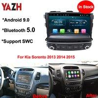 "Yazh Android 9.0 PIE 9.0 ""IPS 스크린 자동차 DVD 단위 플레이어 KIA SORENTO 2013 2014 2015 자동 라디오 1024 * 600 HD 디스플레이 모니터"