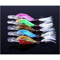 Nuevo ThreadFin SHAD CANK BAIT 6.5 CM 6G Ojos 3D 3D Live Target Bass Fishing Señuelos con ganchos de plumas VMC
