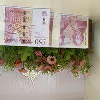 Copier 100pcs / Pack Papier pour enfants US / Euro / Dollar Toy286 Jeu de famille ou la plupart des billets de banque de fonds réaliste Prop Apokr