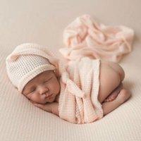 Новорожденные пустые Одеяла пелены + шляпы Набор евро Америка Горячая распродажа детские постельные принадлежности Младенческие малыши лесовые петлями хлопок приемное одеяло