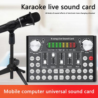 Звуковые карты F9 Мобильный телефон Микрофон Live Card 18 Гарнитура USB Внешний аудио интерфейс с Bluetooth для ПК
