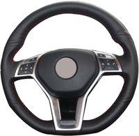 DIY из натуральной кожи Авто Cusotm замша крышки рулевого колеса для Mercedes Benz C350 C250 C300 / CLA250 CLS550 / E250 E350 E400 E550 / GLA45