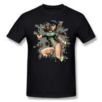 Camisetas para hombre T Shirts Camisetas Hombres Jill y la camiseta muerta Camiseta de alta calidad Padre Día Tops Ropa 100% algodón residente malvado Zombie Game1