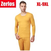 2020 Outono Inverno New Men's Long Johns Thermal Underwear Modal Fino Homens Underwear Sets Quente Plus Size XL-6XL, 7XL, 8XL, 9XL1