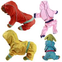 애완 동물 강아지 비 옷 강아지 캐주얼 방수 비 옷 재킷 애완 동물 용품 재킷 반사 안전 비옷 재킷 T200328