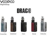 Voopoo Drag 3 TC Kit 177w Dual 18650 Bateria com 5,5ml TPP Tanque Fit TPP DM1 DM2 Bobinas Vape Mod Kit Autêntico