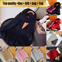Avec la boîte sac-cadeau de réception Tag Top qualité écharpe Hommes Femmes d'hiver luxurys mode Foulard Pashmina chaud Imiter en laine et cachemire Echarpes