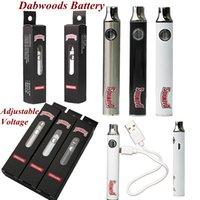Más nuevos Dabwoods Vape Pen Battery 650mAh Precaliador Vaporizador 510 Hilo Batería Variable Voltaje Carros Batería ajustable Cable USB Embalaje