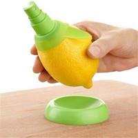 2pcs / set de cocina jugo de limón pulverizador de fruta fresca cítrica anaranjada del aerosol de cocina utensilios de cocina jugo Squeeze Sprays DH1013