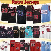 Scottie 33 Pippen 23 NCAA Баскетбольная майки Деннис 91 Родман Колледж Северная Каролина Государственный университетский Университет Баскетбол Джерси 2021
