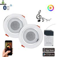 Mini Smart Music LED Deckenleuchten Modern Audio Downlight Bluetooth Musiklampe App Control Wohnzimmer Schlafzimmer Küche Beleuchtung