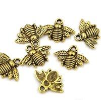 Lovely Bee Charms Wisiorki 16x20mm DIY Biżuteria Fit Bransoletki Naszyjnik Kolczyki PS1198