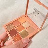 9 Colors Nude Eyeshadow Kit Matte Glitter Eyeshadow Palette Makeup Diamond Glitter Metallic Shiny Nude Eye Pigment Cosmetics 0249