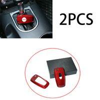 Araba Anahtarı Durumda Kabuk Koruyucu Kapak Kuru Kırmızı Karbon Fiber Ford Mustang 18-20 için