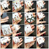 Wholesale lote 30 pares mulheres brincos strass moda jóias garanhão drop hoop brinco mix estilos presentes de festa novo