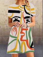 Sommer New Print Abstract Face Minirock Princrets Drs
