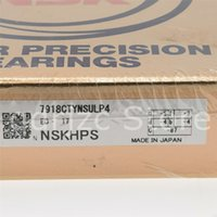 NSK spindle bearing 7918CTYNSULP4 7918C SULP4 = B71918-C-T-P4S-UL = 7918CG GLP4 90mm X 125mm X 18mm