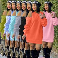 اللباس أزياء الاتجاه مثير طويل الأكمام مقنعين التنانير قصيرة مصمم الإناث الخريف جديد عارضة البسيطة اللباس السيدات سستة فضفاضة