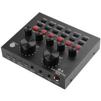 V8 áudio placa de som externa headset USB microfone webcast transmissão ao vivo cantar em casa Entermen para telefone Telefone TV1