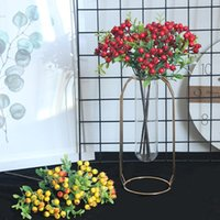 28. 5cm Fake Bean Branch Christmas Berry Artificial Flower Co...