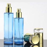 Garrafa de creme de chuveiro azul de vidro 40ml com lotion / spray Bomba Recipiente1