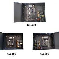Contrôle d'accès d'empreintes digitales Contrôle un / deux / quatre contrôleur de porte avec boîtier d'alimentation 100V-240V Alimentation Panneau TCP Lecteur RFID Entrée assistée et sortie1