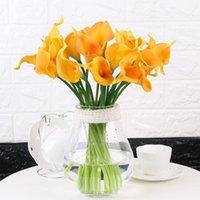 Neue schöne Mini Künstliche Calla mit Blatt Plastik Gefälschte Lilie Wasserpflanzen Home Room Decoration Flower DIY Party Dekoration1