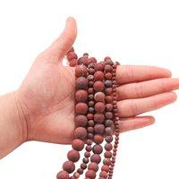1 الرطاط الحجر الطبيعي ممل البولندية ماتي الأحمر بحي جاسبرز حبة جولة جوهرة فضفاضة فضفاض الخرز للمجوهرات صنع اللوازم h bbyuqa