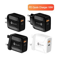18W PD نوع C + USB شاحن السريع لهواوي P30 QC 3.0 سريع شاحن حائط الاتحاد الأوروبي في المملكة المتحدة التوصيل Adapte لسامسونج XIAOMI