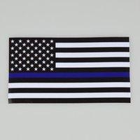 블루 삶 물질 경찰 USA 미국의 얇은 블루 라인 Flag 자동차 데칼 스티커 USA 나라 국기 파티 스티커 20Styles 인쇄하기