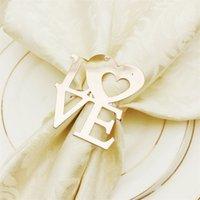 Saint-Valentin pour la Saint-serviette de mariée Anneaux de serviettes métalliques pour dîners Party Hôtel de mariage Table de mariage Decoration Boucle 100 50 g2