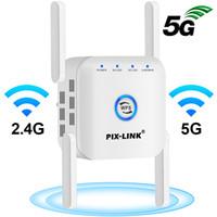 5G WiFi Repetidor de 5 GHz Extender Wifi 5 GHz Amplificador Amplificador Booster Wi Fi Router 300Mbps 1200 Mbps Repetidor de señal de Wi-Fi 2.4G 5G