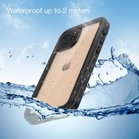 Para iPhone 12 Pro Max Waterproof Case para iPhone 12 Pro prova de natação Capa para iPhone 12 mini Água Telefone Mergulho Coque