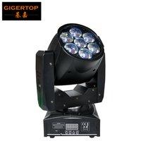 TIPTOP 1PCS 95W LED de cabeza móvil luz del zumbido tamaño mini 7x12W de alta potencia RGBW 4IN1 de la mezcla de colores DMX 16 canales zoom llevó luz de escenario