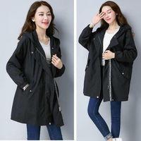 Women Trench Casual loose Trench Coat oversize Vintage Cloak female Overcoats Windbreaker plus Size 4XL 5XL 201118