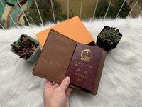 العلامة التجارية جواز سفر غطاء حامل بطاقة مصمم الشهير حقائب NM الرجال / النساء N63144 محفظة محفظة معرف BIFOLD مع صندوق الغبار حقيبة CX # 3