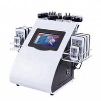 고품질 새로운 모델 40K 초음파 지방 흡입 cavitation 8PADS 레이저 진공 RF 스킨 케어 살롱 스파 슬리밍 기계 아름다움 장비