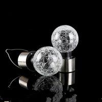 Crackle Ball Pendentif lampe mini verre en acier inoxydable énergie solaire décor de jardin suspendu lampes populaires portables Hot Selling 4 2HJ J1