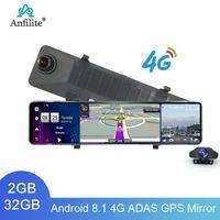 """Anfilite 4G ADAS Auto DVR Specchio Auto Black Box 12 """"Android 8.1 GPS Dash Cam Video Drive Recorder View View Specchietto"""