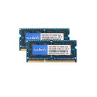 TECMIYO RAM PC3-10600 DDR3-1333 BIRFUFFUREED 1.5V 204PIN NON-ECC DDR3 SODIMM 8GB KIT 2x4GB Memoria de la computadora portátil