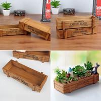 Retro diseño plantadores de moda jardín de madera pote anti desgaste de escritorio maceta divertido decoraciones caja de almacenamiento nuevo 3 7hx zz