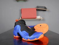 Vôo Posite Knicks Men Shoes Penny Hardoway Pro Racer Azul Azul Laranja-Preto Alta Qualidade Mens Sports Sneakers Tamanho 8-12