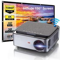 Flzen MX Mini WiFi العارض، 7500LM 1080P جهاز الإسقاط المحمولة المسرح المنزلي مع الشاشة، ودعم 300in 4K إسقاط شاشة اللعب النسخ المتطابق