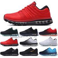 Max 2017 Hot Sell 2017 Kpu Hommes Femmes Chaussures de course Mens Casual Triple Triple Noir Blanc Rouge Sports Sneakers Sneakers en plein air Chaussure 36 à 45