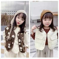 Kids Polka Dot Tooling Vest Coat Toddler Girls Winter Clothe...