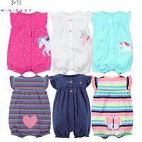 Jumpsuits 오랑누스 여름 아기 소녀 옷 원피스 의류, 코튼 짧은 장난 꾸러기 유아 roupas menina home1